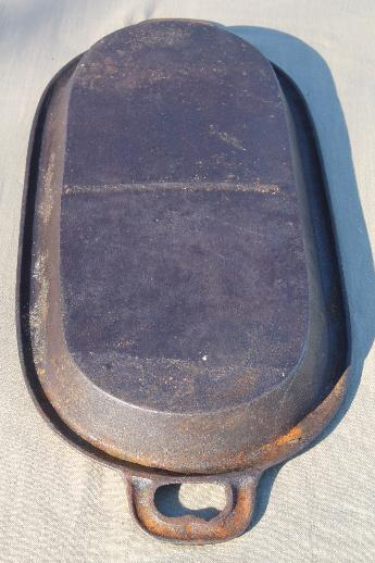 Wood Stove Griddle ~ Vintage cast iron griddle for a wood stove primitive old