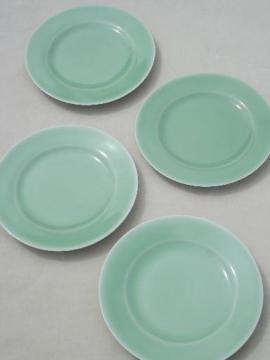 vintage celadon green porcelain china plates, made in Japan
