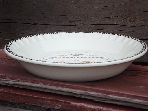 Vintage Ceramic Pie Pan 75 Years Of Mcness Old