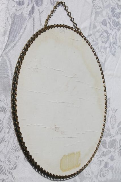 Vintage Chain Frame Round Picture Wall Hanging Flue Cover