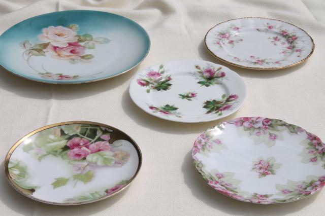 & vintage china dessert set mismatched roses cake plates u0026 serving plate