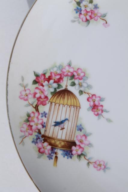 Vintage China Plate W Bluebirds Amp Birdcage Song Bird