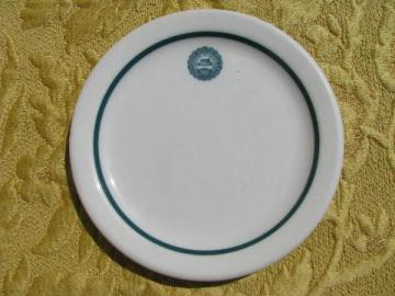 vintage china plate w/ old seal of Michigan State Agricultural Collage