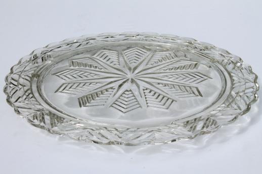 vintage clear glass cake plates low plateau serving trays torte plate lot & vintage clear glass cake plates low plateau serving trays torte ...
