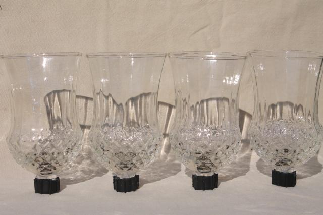 Top vintage clear glass candle cups, hurricane shades for sconces  UE35