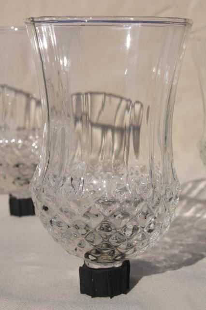 Completely new vintage clear glass candle cups, hurricane shades for sconces  KN69