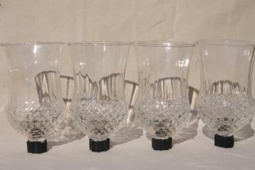 vintage clear glass candle cups, hurricane shades for sconces, candle holders, candlesticks