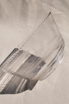 vintage clear glass lampshade, replacement shade for antique lamp or hanging light