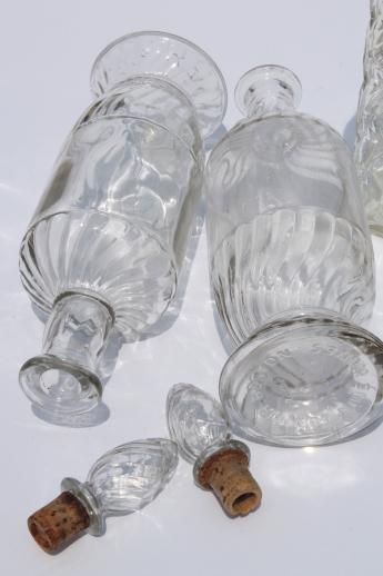 Vintage Clear Glass Liquor Bottles Poor Man S Crystal Jim