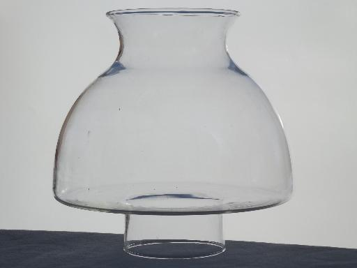 Vintage clear glass replacement shade for kerosene oil lamp or vintage clear glass replacement shade for kerosene oil lamp or student lamp aloadofball Choice Image