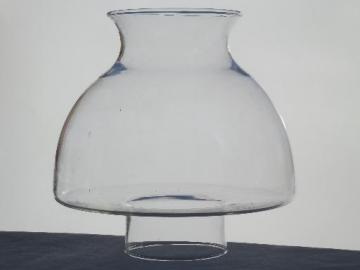 vintage clear glass replacement shade for kerosene oil lamp or student lamp