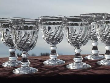 vintage colony Fostoria glass wine glasses, set of 6