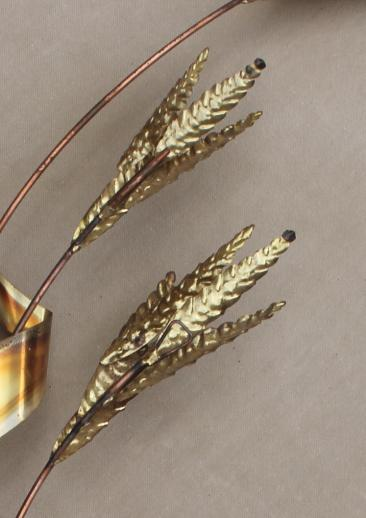 Vintage Copper Amp Brass Metal Wall Art For Fall Autumn