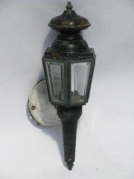 vintage copper stagecoach lamp porch light, coach house wall sconce lantern