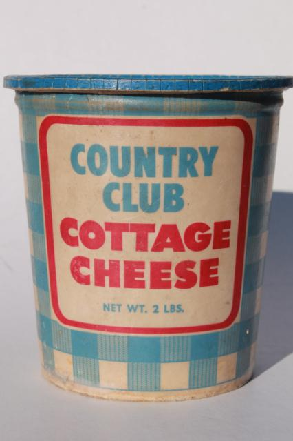 Vintage Cottage Cheese Container Golden Guernsey Dairy Butter Boxes Retro Food Packaging