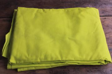 vintage cotton broadcloth fabric, chartreuse yellow-green solid color
