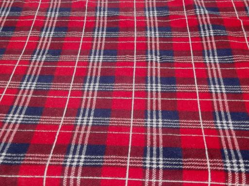 vintage cotton camp stadium blanket red plaid. Black Bedroom Furniture Sets. Home Design Ideas