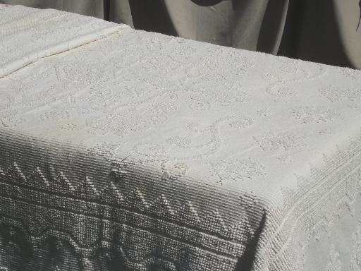 Vintage Cotton Chenille Bedspread Lot Tufted Candlewick