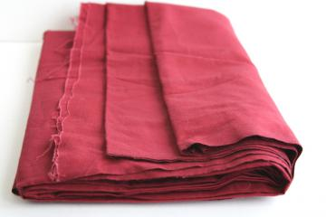 vintage cotton fabric, quilting weight solid color, burgundy wine red