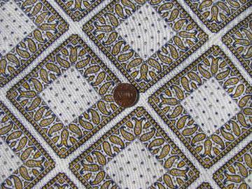 vintage cotton print feedsack fabric, paisley bandana handkerchiefs!