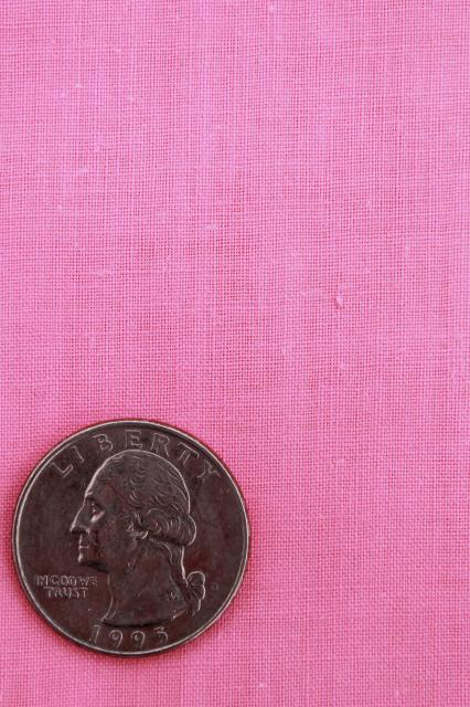 Vintage Cotton Quilting Fabric Lot Retro Pink Solid