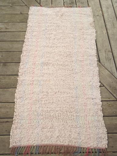 Vintage Cotton Rag Rug Lot Old Country Farmhouse Woven