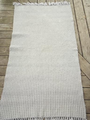 vintage cotton rag rug lot, old country farmhouse woven / braided rugs