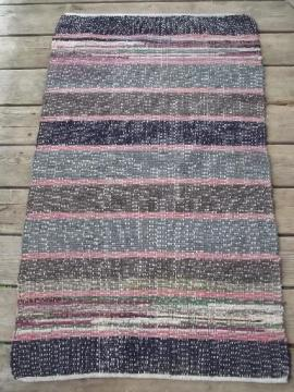 vintage cotton runner rug, stair step carpet or entryway throw rug