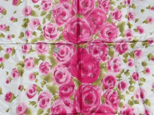 Floral Roses Print Print Shocking Pink Roses