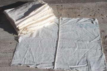 vintage cotton sugar & flour sacks, primitive authentic old feedsack fabric