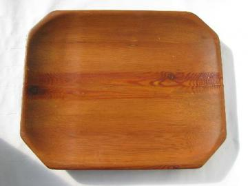 vintage country primitive, big old pine wood bread tray bowl