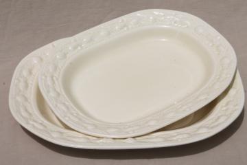 vintage creamware china platters w/ Della Robbia border, Adams - England Titian Ware