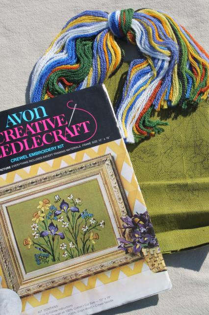 Creative Needlecraft Crewel Embroidery Kits W Wool Yarn Stamped