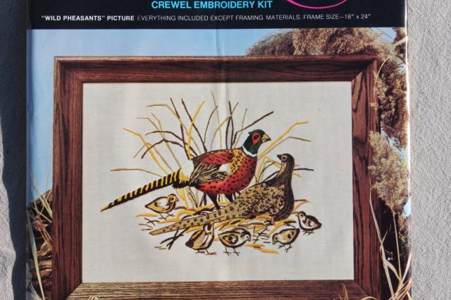 Vintage Creative Needlecraft Crewel Embroidery Kits W