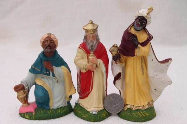 Vintage Creche Figures Assorted Animals For Nativity