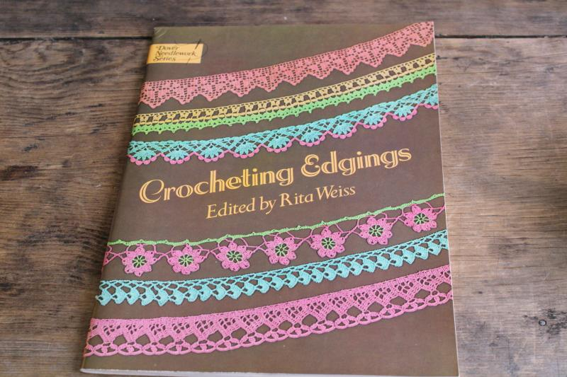 vintage crochet lace edging patterns, Dover book of old needlework designs