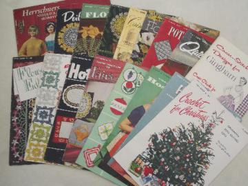 vintage crochet pattern booklets, Star and Coats & Clark books of needlework patterns