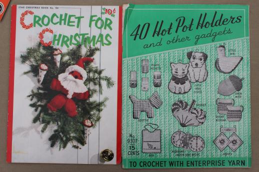 Vintage Crochet Pattern Booklets Lot Doll Clothes Pot Holders