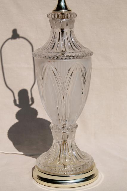 Vintage Crystal Clear European Lead Brilliant Cut Gl Table Lamp