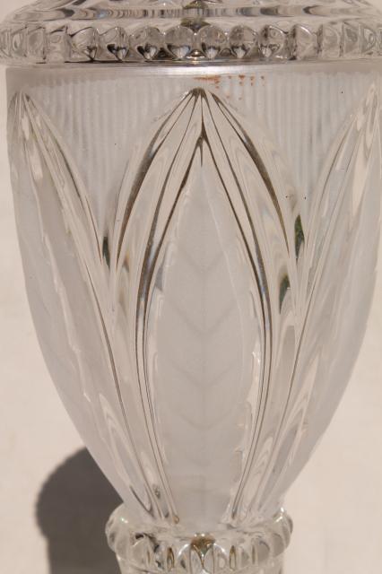 Crystal clear european lead crystal brilliant cut glass table lamp vintage crystal clear european lead crystal brilliant cut glass table lamp mozeypictures Images