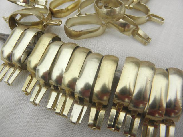 curtain rings, gold tone aluminum metal oval ring clips for cafe ...