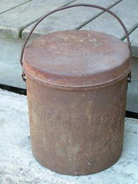 vintage dairy ice cream bucket, old milk can