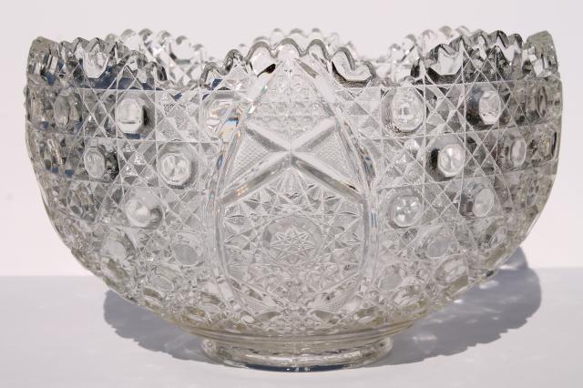 Antique Glass Punch Bowl Ladle