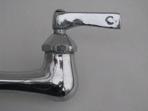 vintage deco chrome Kohler utility or laundry sink faucet