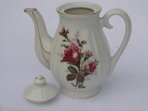 Vintage Demitasse Size Small China Coffee Pot Old Moss