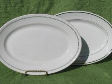 vintage diner / luunch counter china, oval steak plates or platters