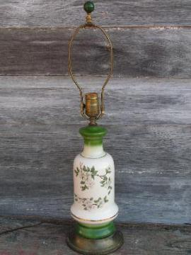 vintage dogwoods floral china lamp