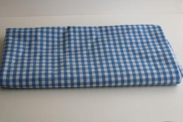 vintage dorothy blue & white checked gingham fabric, cotton blend woven checks