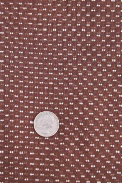 vintage dotted swiss sheer soft light cotton fabric w/ embroidered dots