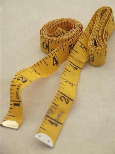 Vintage Dressmaker S Tape Measures Fabric Measuring Tape